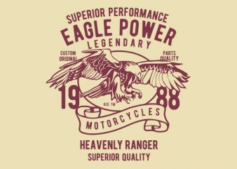 Eagle Power vector tshirt design