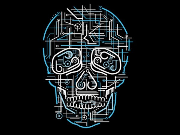 Electric Skull Preview 600x450 - Electric Skull buy t shirt design