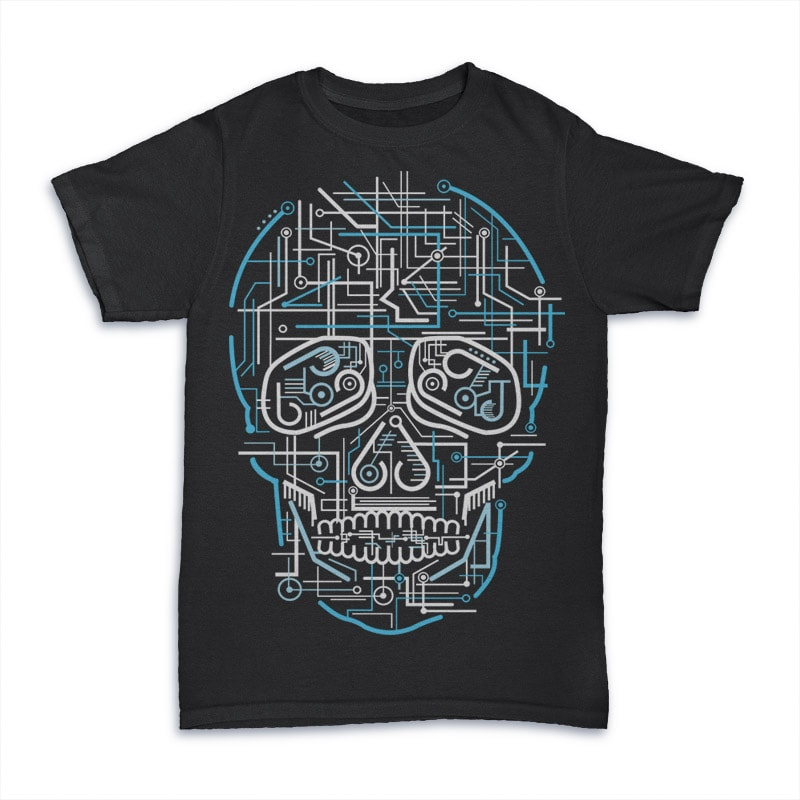 Electric Skull t shirt designs for sale