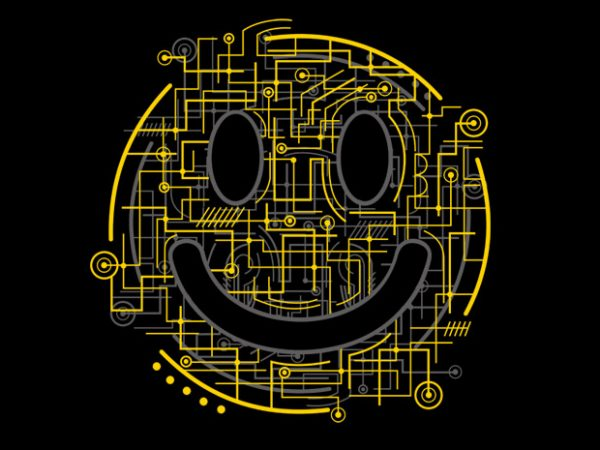 Electric Smiley vector clipart