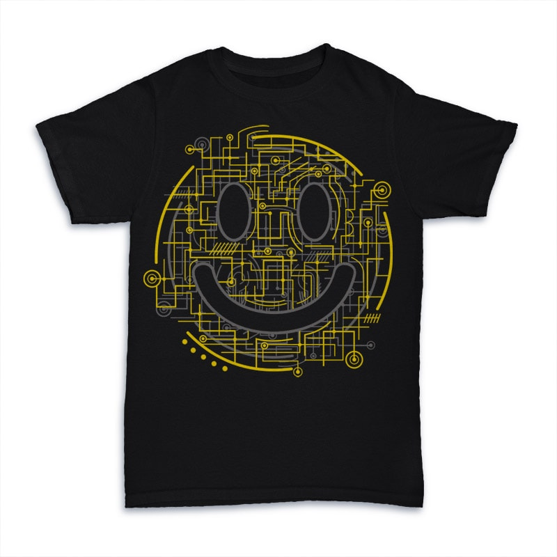 Electric Smiley buy t shirt designs artwork