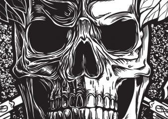 Empty Soul – Skull vector t-shirt design for commercial use