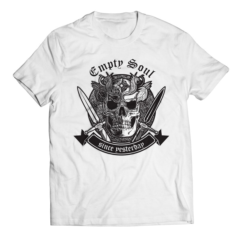 Empty Soul – Skull t shirt designs for printify