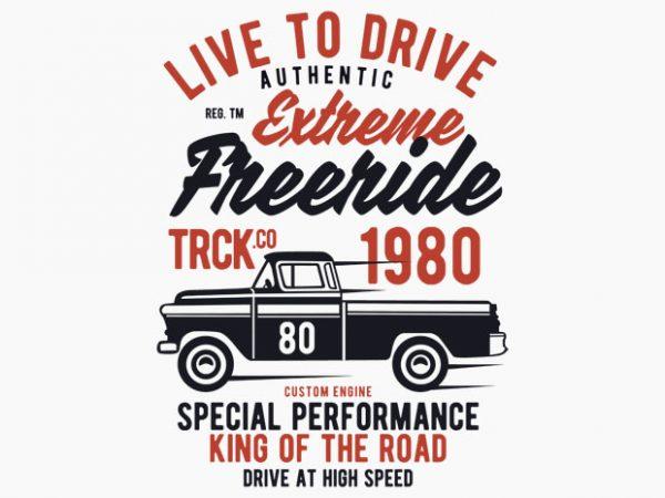 Extreme Freeride Truck t-shirt design
