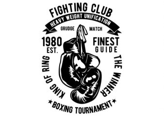 Fighting Club t shirt graphic design
