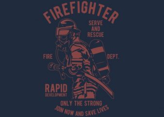 Firefighter Dept tshirt design