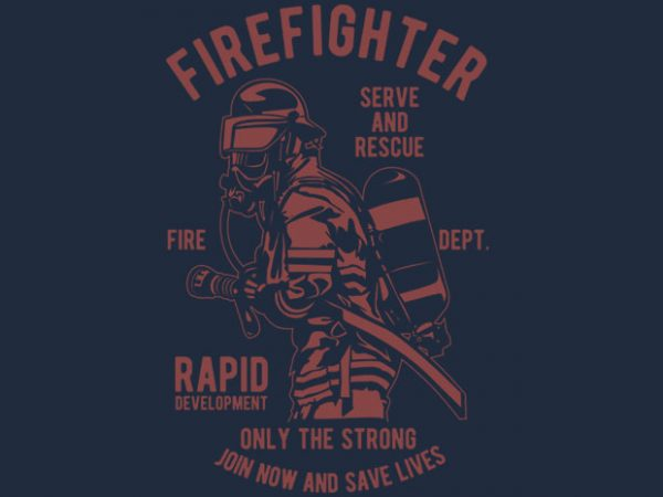 Firefighter Dept tshirt design