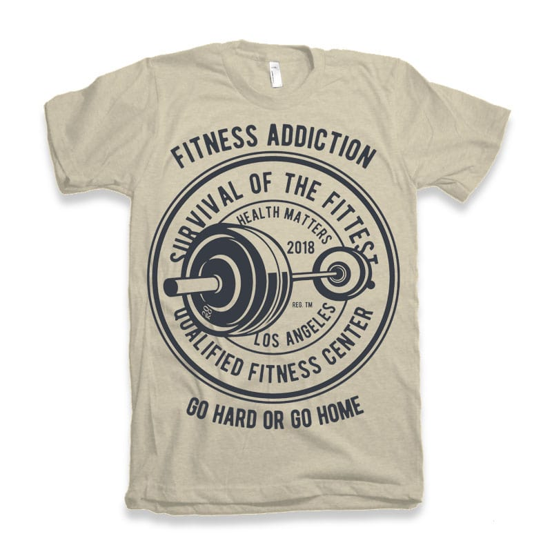 Fitness Addiction tshirt design tshirt designs for merch by amazon