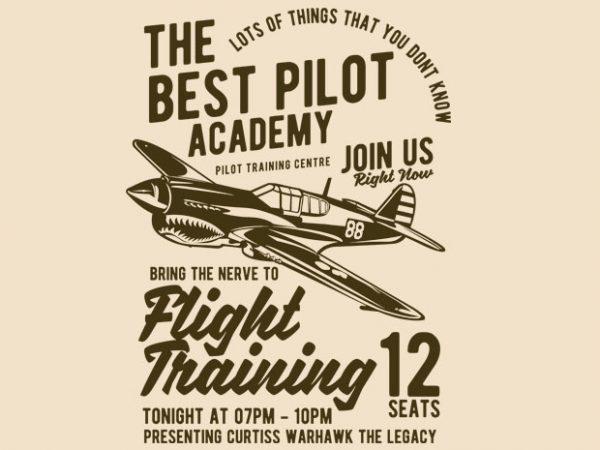 Flight Training t-shirt design