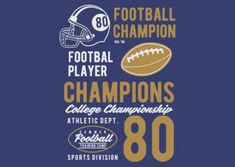 Football Champions tshirt design