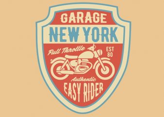 Garage New York tshirt design