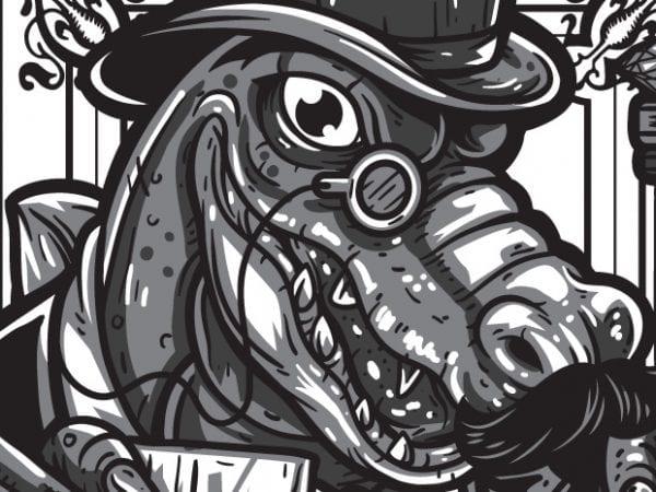Gatorocks – Alligator t shirt design template
