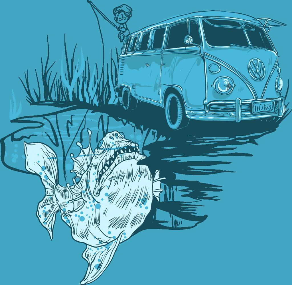 Go fishing tshirt factory