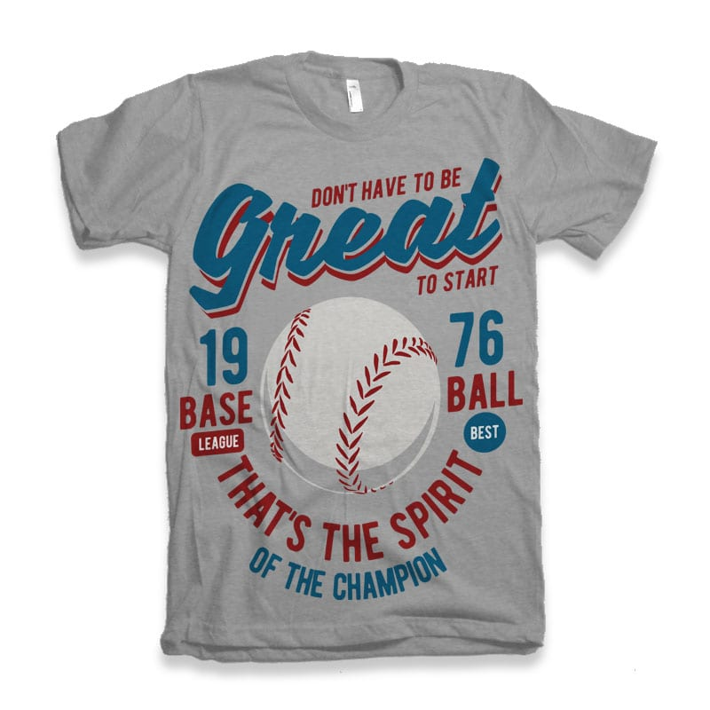 Great Baseball commercial use t-shirt design