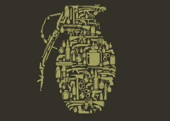 Grenade graphic t-shirt design