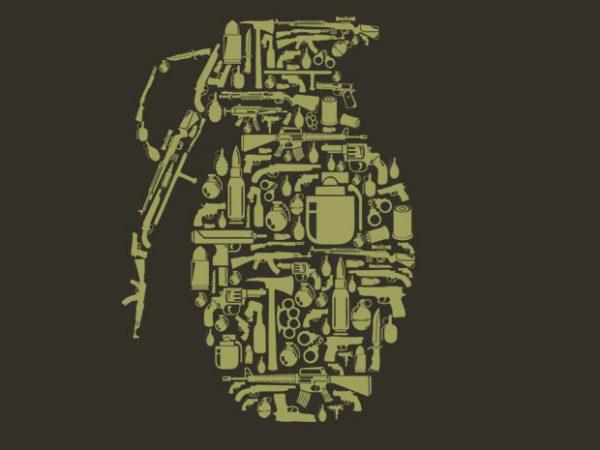 Grenade t shirt design template