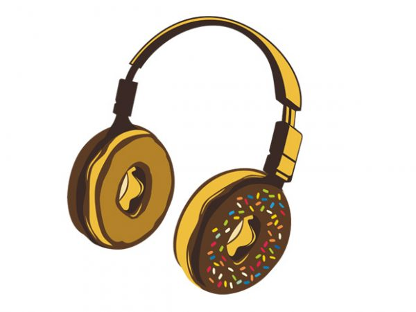 Headphone Donut Preview 600x450 - Headphone Donut buy t shirt design