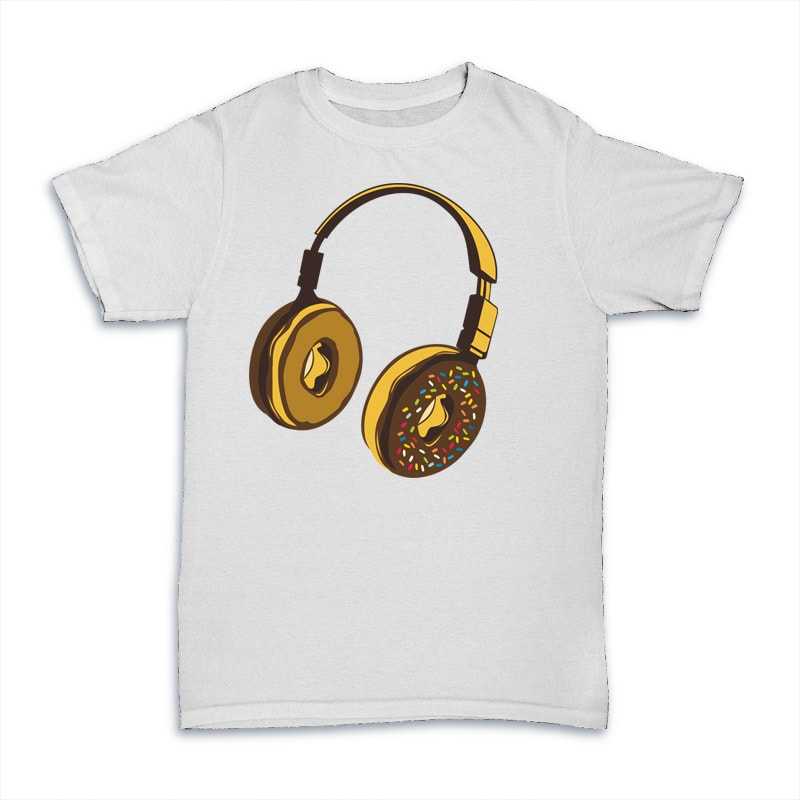 Headphone Donut commercial use t shirt designs