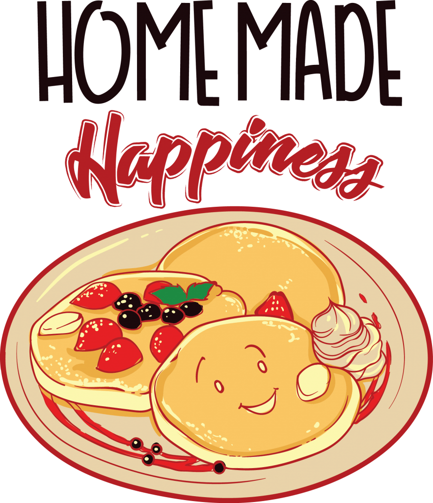 Home made happiness t shirt design graphic