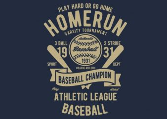 Homerun Baseball vector design