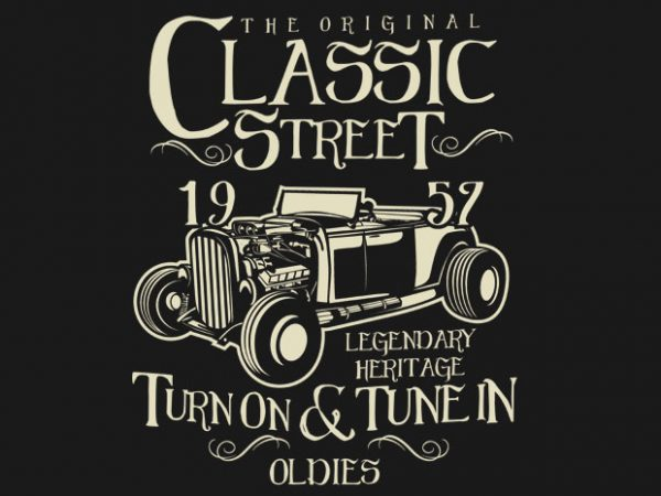 Hot Rod Classic graphic t shirt