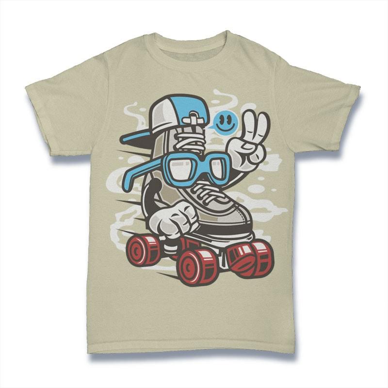 In Line Skater vector t shirt design