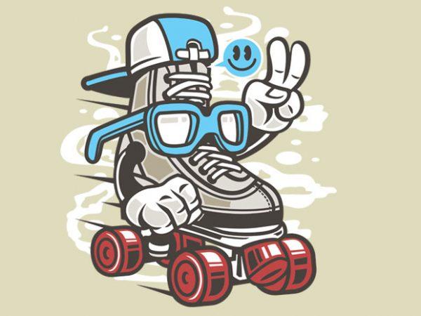 In Line Skater vector shirt design