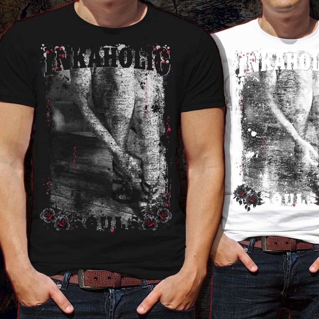 Inkaholic Souls Tattoo Tshirt Design tshirt design for sale