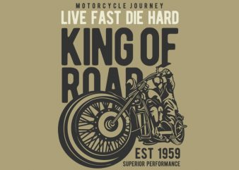 King Of Road buy t shirt design for commercial use