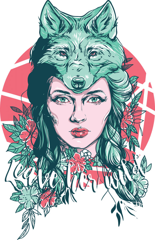 Leave her wild t shirt designs for merch teespring and printful