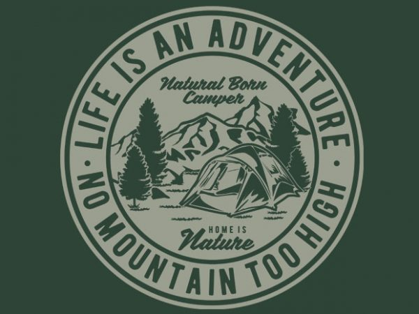 Life Is An Adventure tshirt design
