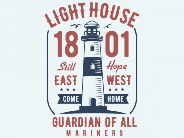 Light House t-shirt design