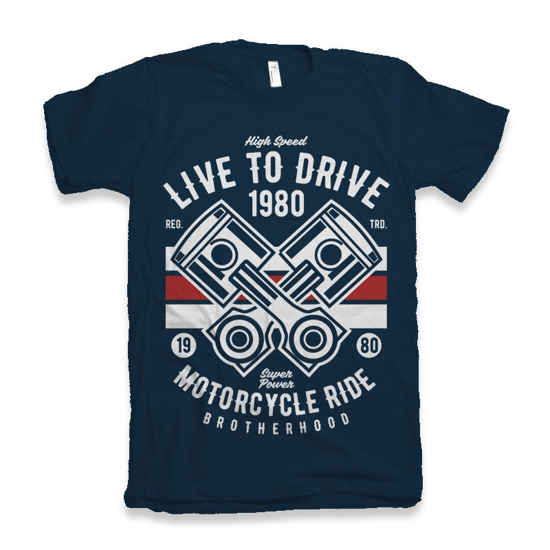 Live To Ride 1980 t-shirt design t shirt designs for teespring