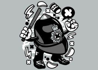 London Policeman t shirt vector graphic