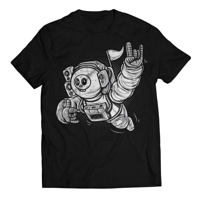 Lost in Space – Skull Astronaut t shirt designs for print on demand