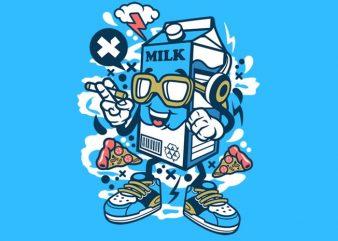 Milk Box vector t shirt design for download