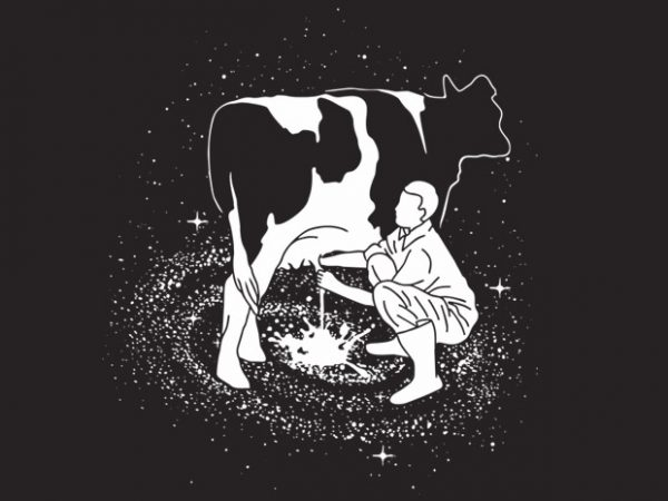 Milky Way t shirt designs for sale