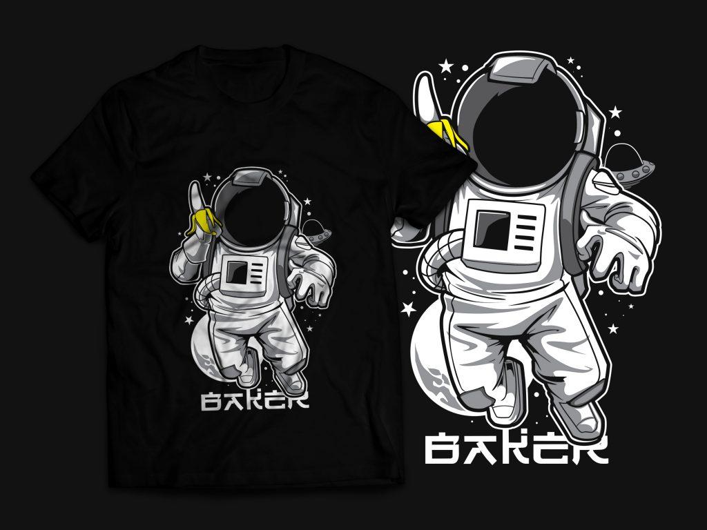 Astronaut & Banana T-Shirt Design t shirt designs for teespring