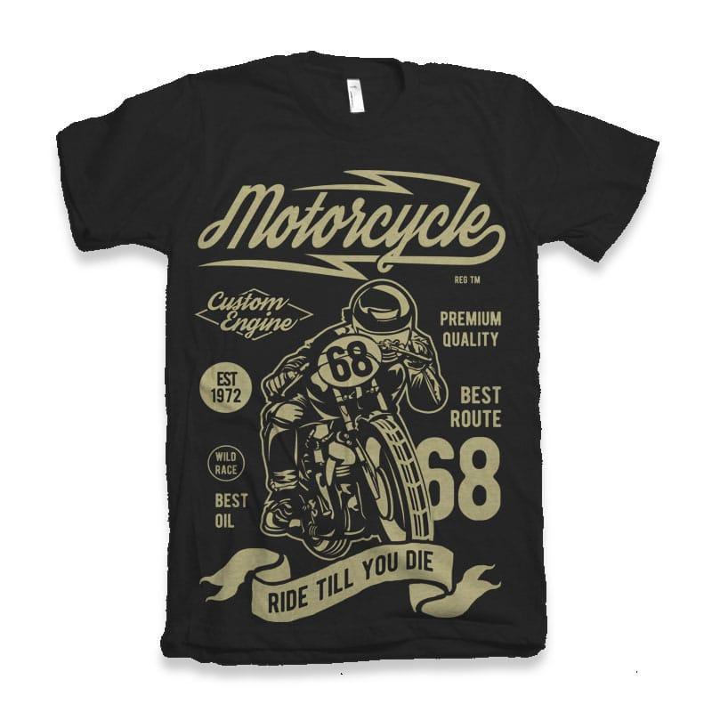 Motorcycle Custom Engine vector shirt designs