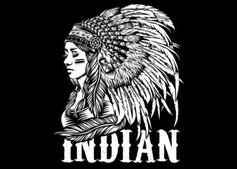 Native American Women T shirt vector artwork