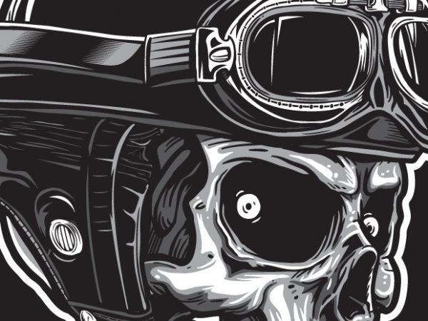 Never Go Slow – Skull Biker T shirt vector artwork