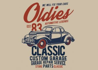 Oldies vector t-shirt design