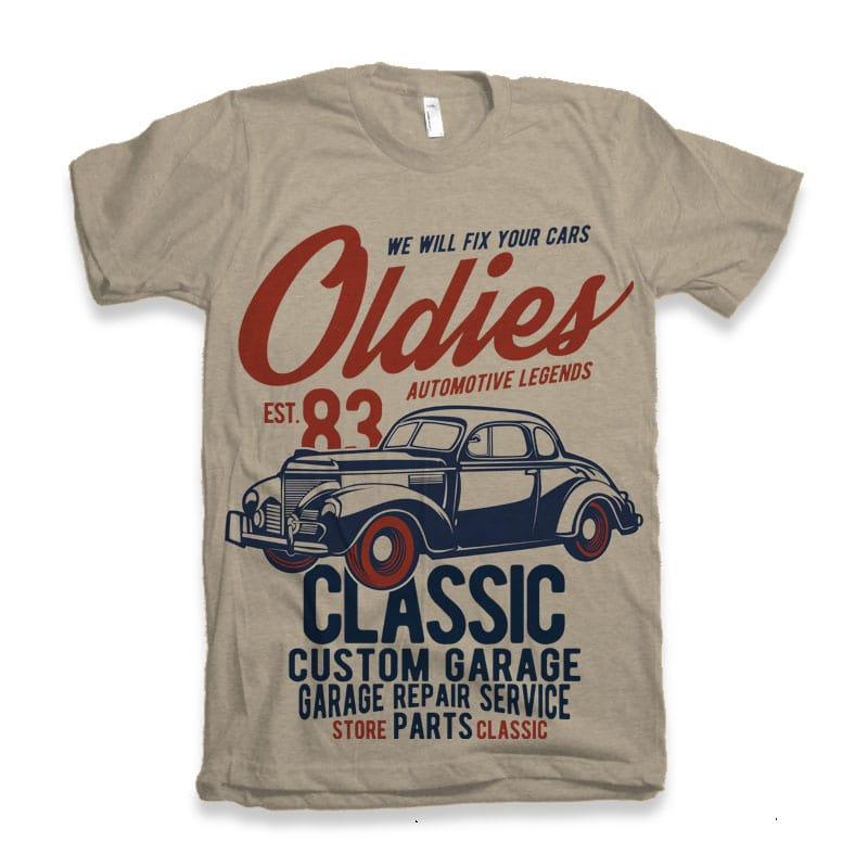 Oldies vector shirt designs