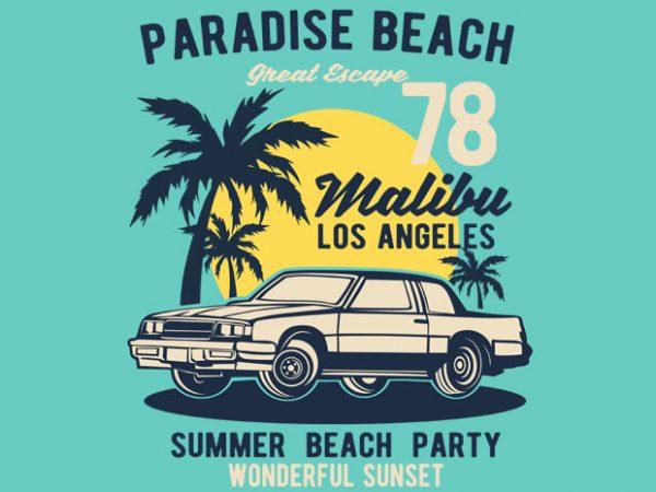 Paradise Beach BTD  600x450 - Paradise Beach buy t shirt design