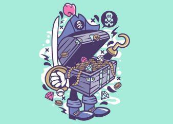 Pirate's Treasure t shirt illustration