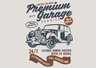 Premium Garage t shirt illustration