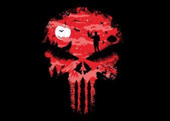 Red Night Skull t shirt design online