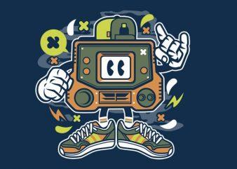 Retro Gamer buy t shirt design for commercial use