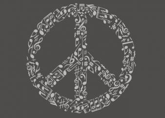 Rhyme In Peace vector t-shirt design