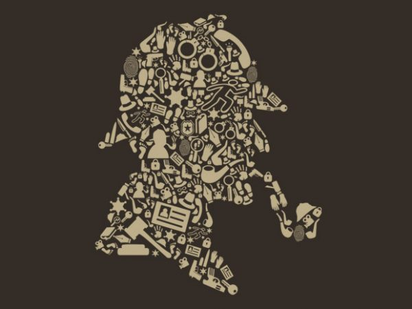 Sherlock Holmes commercial use t-shirt design